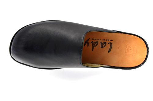 sophie mule ferm e cuir noir r f 609 01 11 01 chaussures femme pantoufle chausson. Black Bedroom Furniture Sets. Home Design Ideas