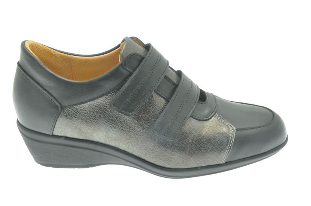 CuirSemelle En Ville Femme De Amovible Chaussures YH9ED2IW